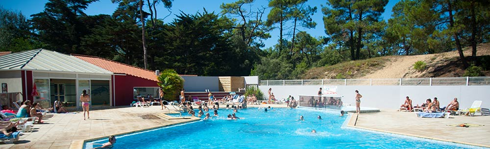 The pool at Les Cyprès campsite in St Gilles Croix de Vie