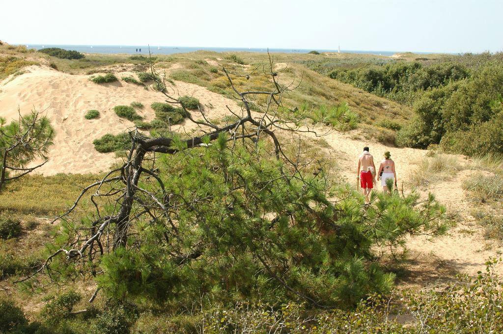 Direct access to the beach at St Gilles Croix de Vie