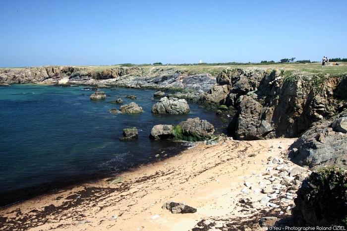 Côte rocheuse de l'île d'Yeu proche du camping