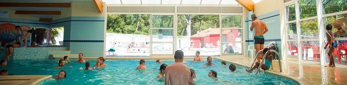 piscine du camping situé en bord de mer en Vendée