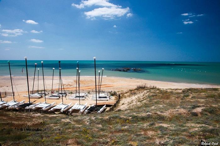 Le bord de mer proche du camping les Cyprès en Vendée