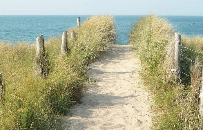 l'accès à la plage du camping en Vendée