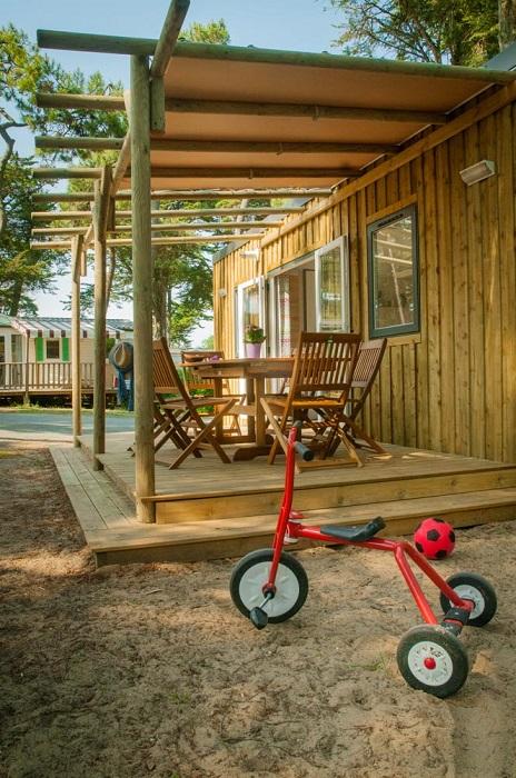 mobil home tout confort en location au camping sur la côte Atlantique